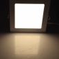 Preview: LED Licht-Panel, 22,5x22,5cm 230V, 18W, 1300 Lumen, 2900K / warmweiß