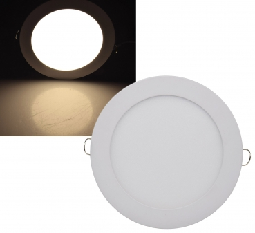 LED Licht-Panel, Ø 17cm 230V, 12W, 850 Lumen, 2900K / warmweiß