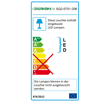 Bioledex GoLeaf Q2 LED Pflanzenleuchte 120W - Vegetatives Wachstum - Vollspektrum