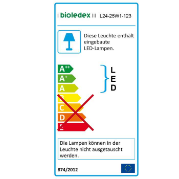 Bioledex LED Streifen 24V 5W/m 60LED/m 2700K IP65 5m Rolle warmweiss