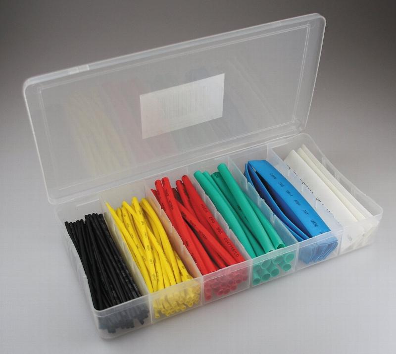 Schrumpfschlauch Box bunt Set 100-teilig Sortiment