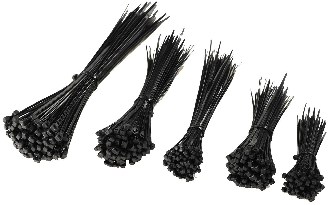 120 und 140mm je 25 Stück 100 schwarz Kabelbinder-Nylon-Set von Cartrend